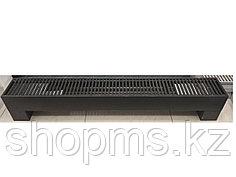 Напольный конвектор SAVVA KN 185*130*1400 конц прав RAL9011 RAL9011 решетка рулонная