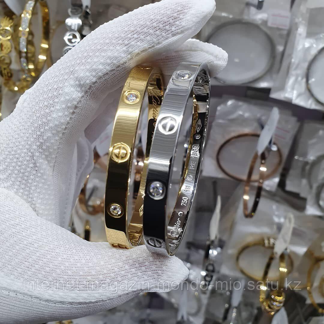 Браслет Cartier Love на защелке. Копия ЛЮКС. - фото 1