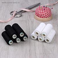 Набор ниток Dor Tak, 40/2, 400 ярд, 10 шт, цвет чёрный/белый