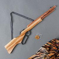 Игрушка деревянная стреляет резинками «Ружьё» 2×63×13 см