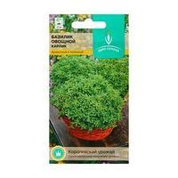 Семена Базилик овощной 'Карлик' среднеранний, мелколистный, зеленый, 0,4 г. (комплект из 10 шт.)