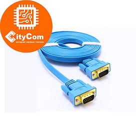 Интерфейсный кабель, cable VGA, Right Cable, 5m, box, slim&soft, Super Hi-Speed, синий Арт.4282
