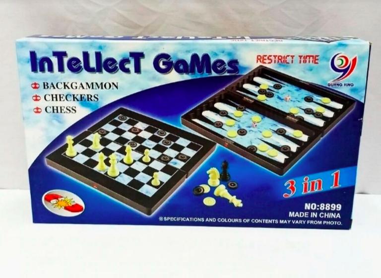Шахматы, магнитные, 3в1, пластик - фото 5
