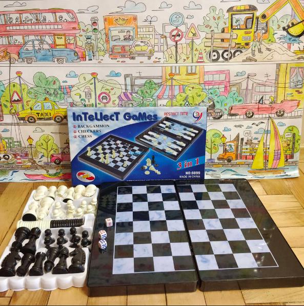 Шахматы, магнитные, 3в1, пластик - фото 7