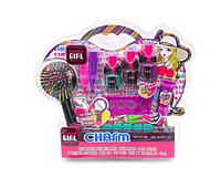 Детская косметика Charm 81026: расческа, лаки, блеск для губ - набор декоративной детской косметики для девочк