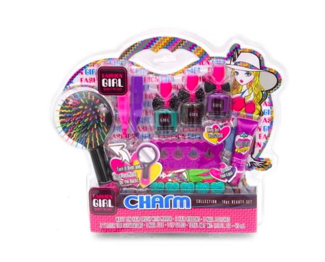Детская игровая косметика расческа, лаки, блеск для губ - для девочк - фото 1