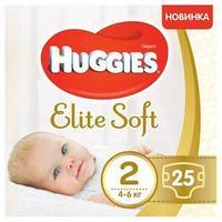 Подгузники Huggies Elite Soft 2 // 25 штук