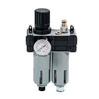Регулятор давления с фильтром, лубрикатором и манометром 1/2