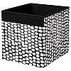 Коробка ДРЁНА черный/белый 33x38x33 см ИКЕА, IKEA