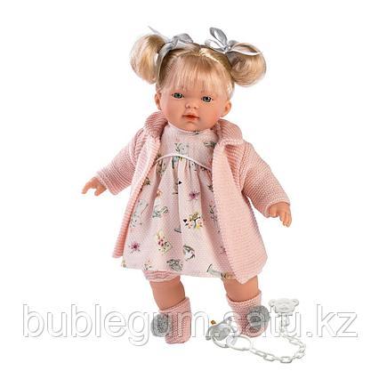 LLORENS: Кукла Ариана 33см, блондинка в розовом пальто и розовом платье
