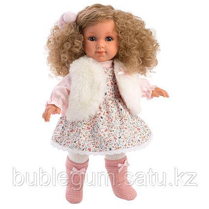 LLORENS: Кукла Елена 35 см., блондинка в меховом жилете