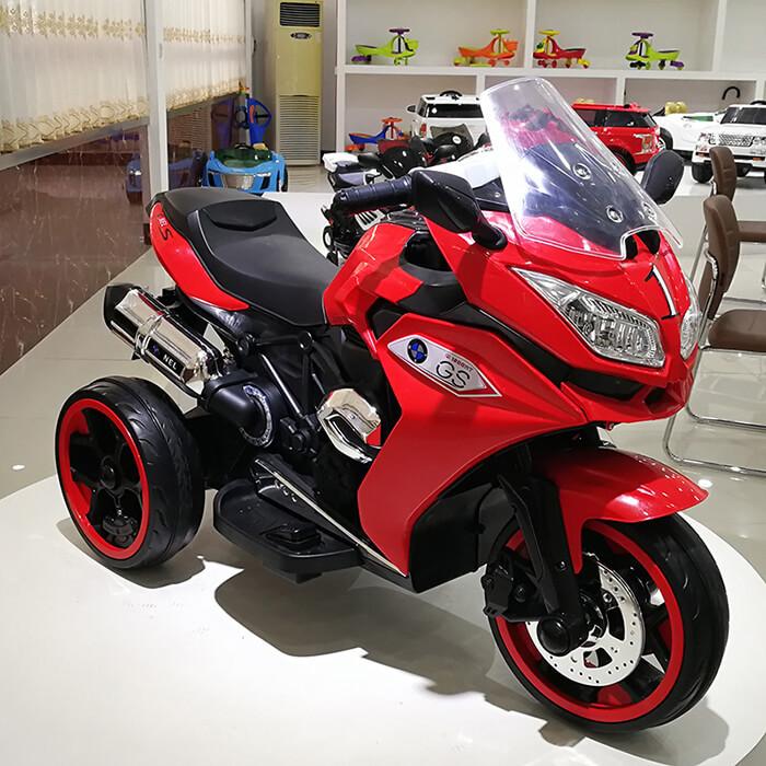 Детский электрический трехколесный мотоцикл BMW GS 1200