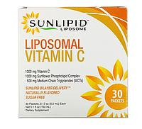 SunLipid, Липосомальный витаминC, с натуральными ароматизаторами, 30пакетиков по 5,0мл (0,17унции)