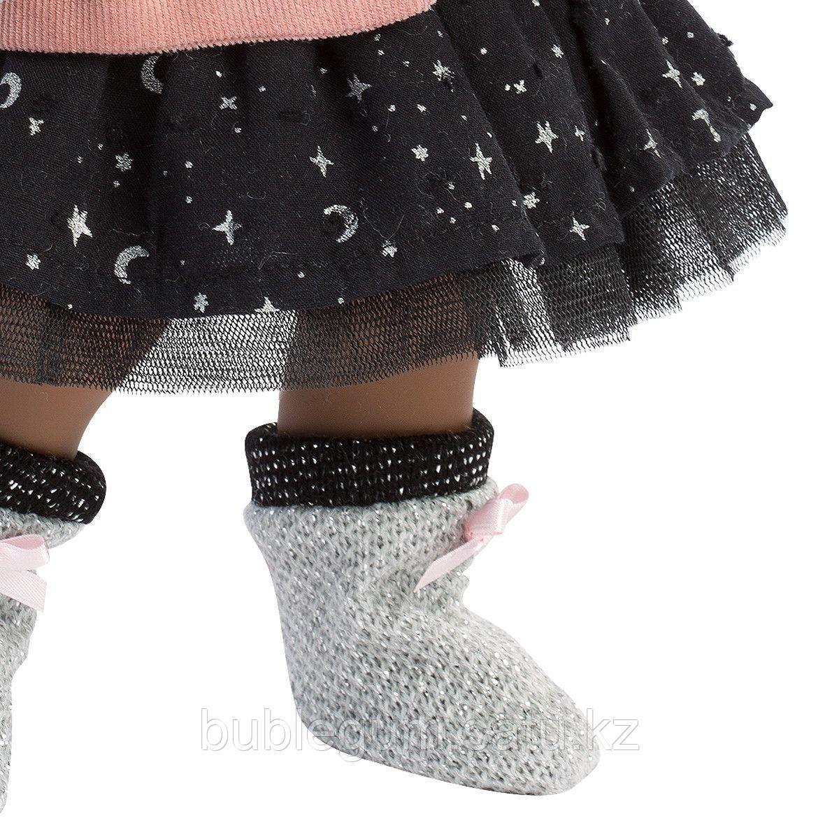 LLORENS:Кукла Зури 35см, мулатка в розовом жакете и черной кружевной юбке - фото 3