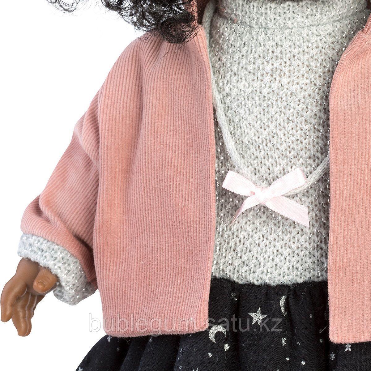 LLORENS:Кукла Зури 35см, мулатка в розовом жакете и черной кружевной юбке - фото 5