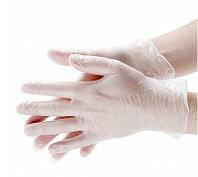 Перчатки виниловые опудренные 100шт белые S. M. L