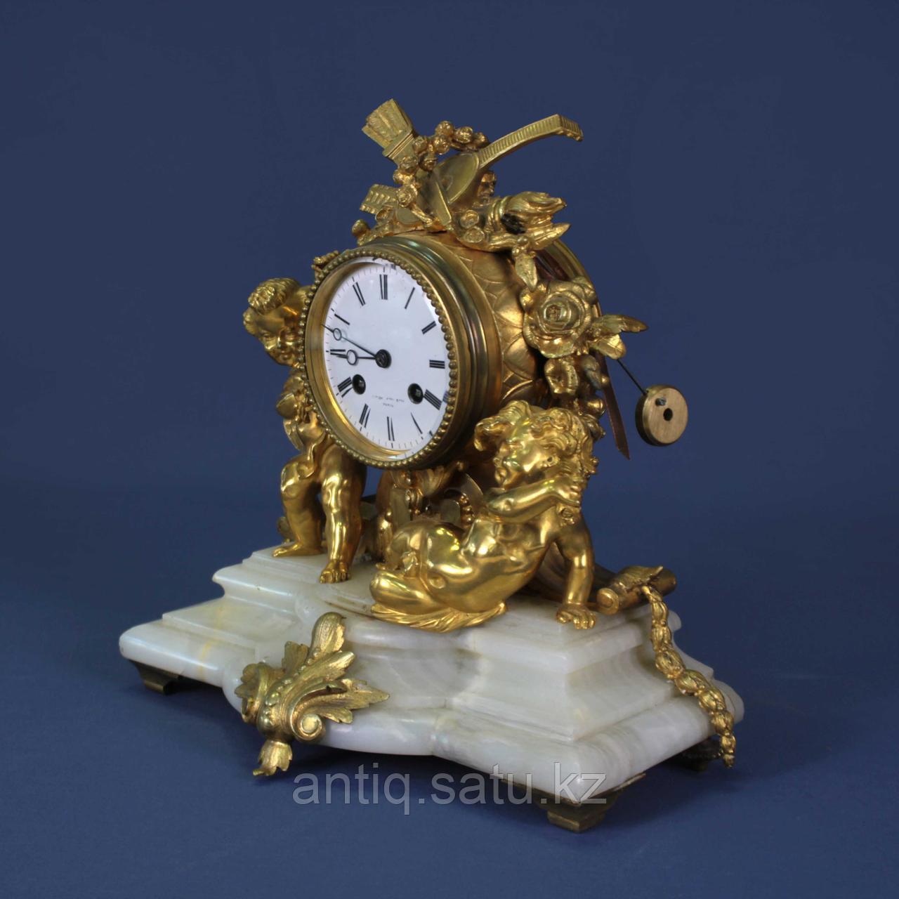 Каминные часы в стиле Людовика XVI. Часовая мастерская Miroy Freres - фото 2