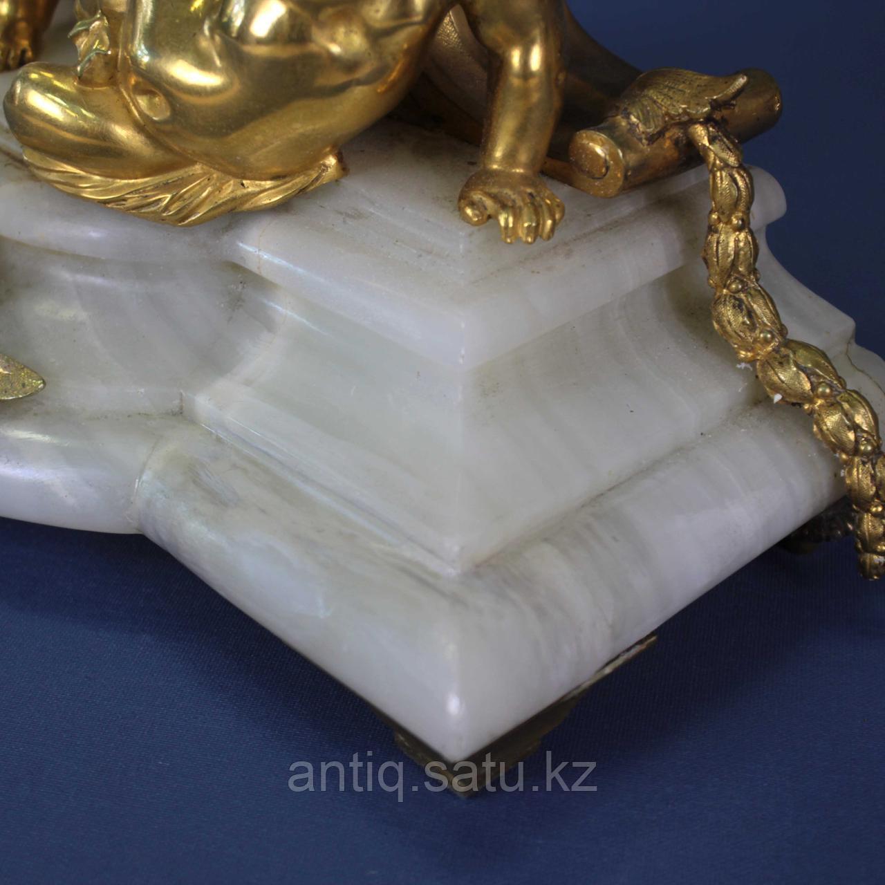 Каминные часы в стиле Людовика XVI. Часовая мастерская Miroy Freres - фото 3