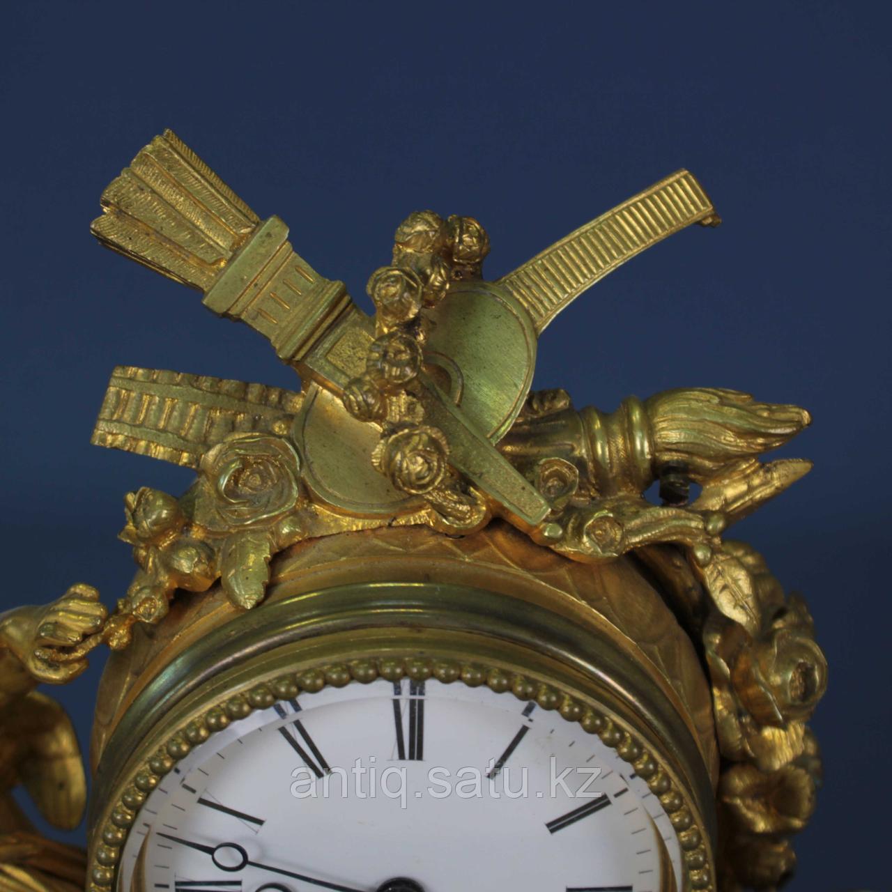 Каминные часы в стиле Людовика XVI. Часовая мастерская Miroy Freres - фото 4