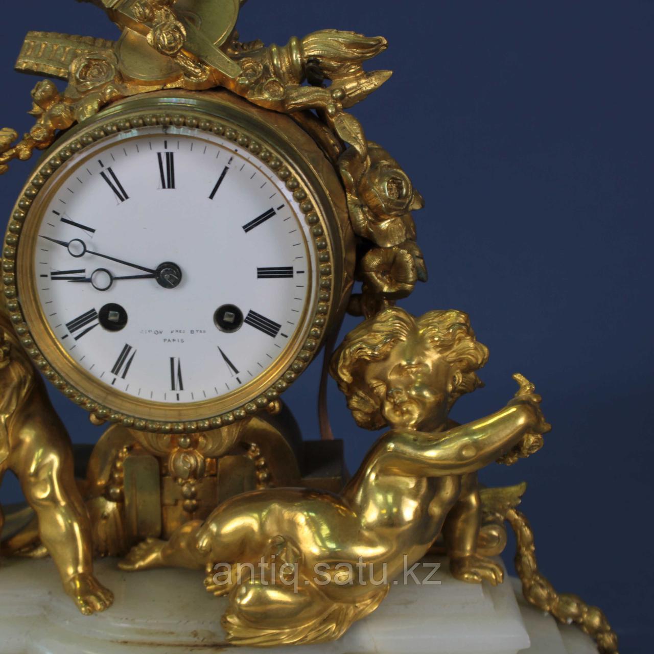 Каминные часы в стиле Людовика XVI. Часовая мастерская Miroy Freres - фото 5