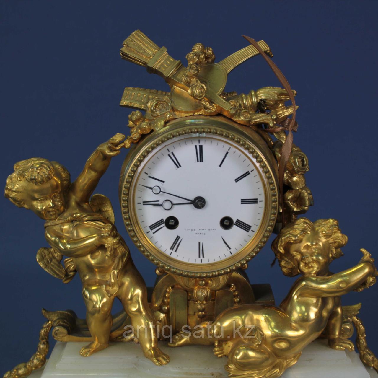 Каминные часы в стиле Людовика XVI. Часовая мастерская Miroy Freres - фото 7
