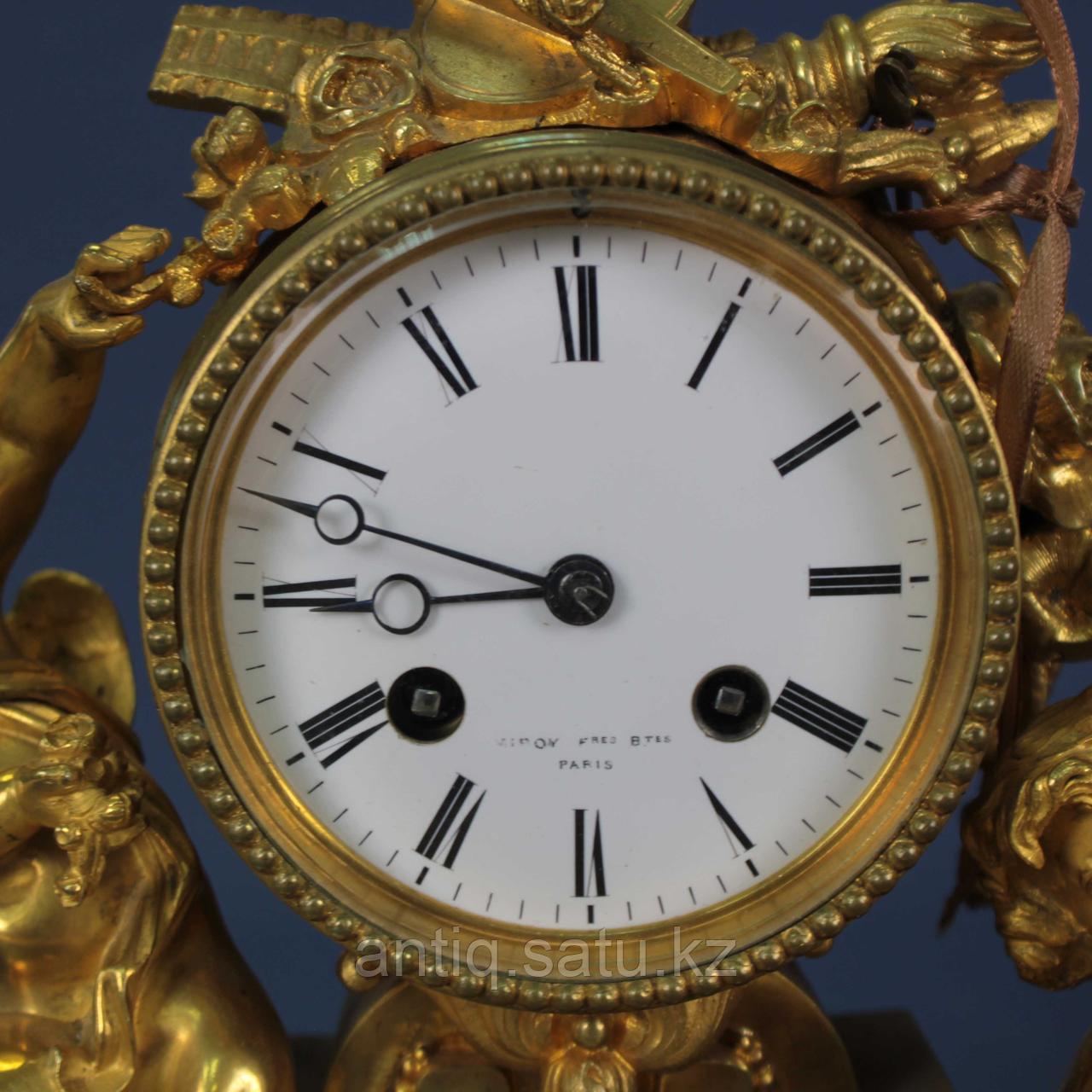 Каминные часы в стиле Людовика XVI. Часовая мастерская Miroy Freres - фото 6