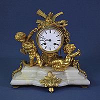 Каминные часы в стиле Людовика XVI. Часовая мастерская Miroy Freres