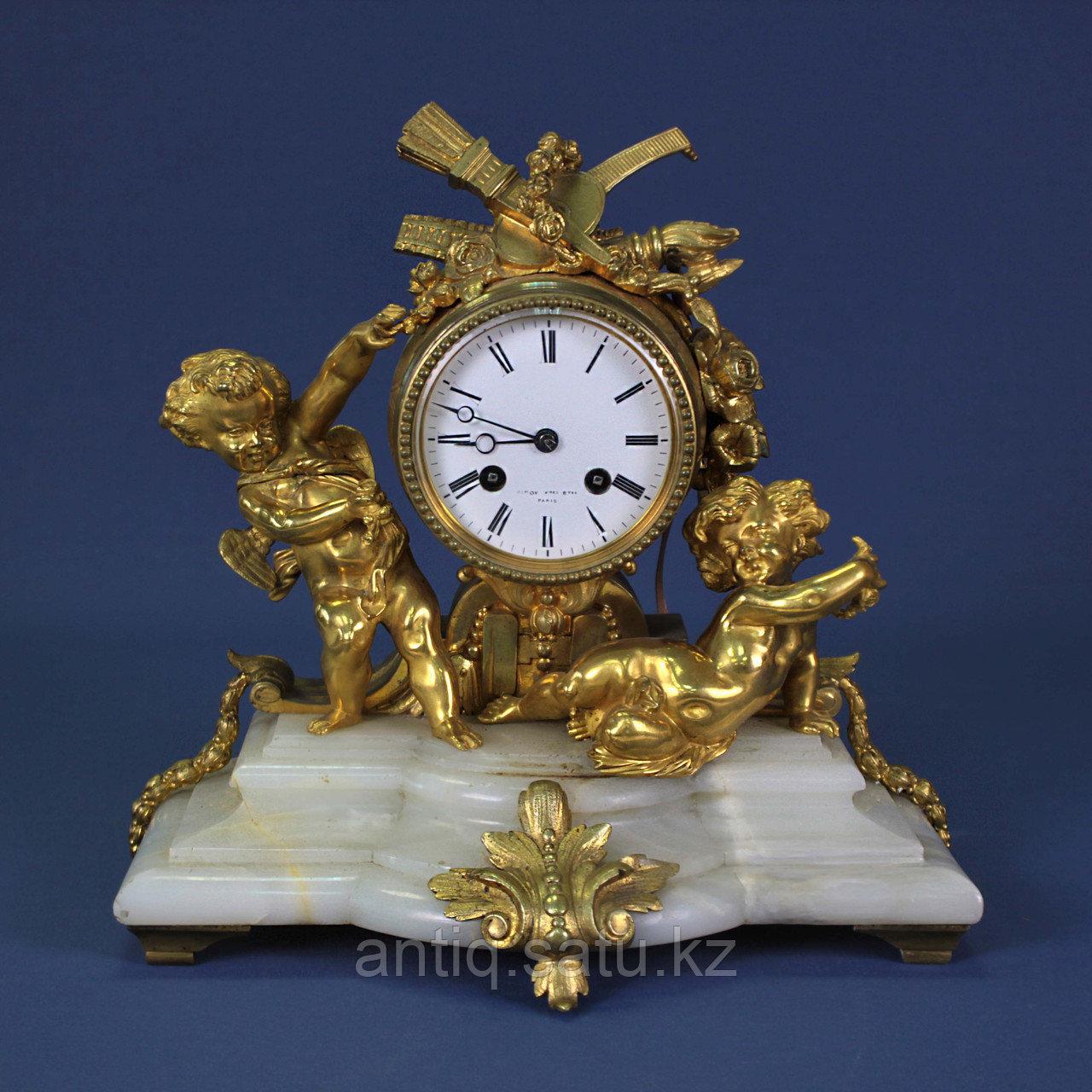 Каминные часы в стиле Людовика XVI. Часовая мастерская Miroy Freres - фото 1