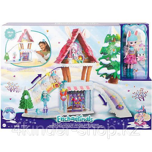 """Mattel Enchantimals Игровой Набор Энчантималс """"Снежная долина"""" Лыжный домик - фото 1"""