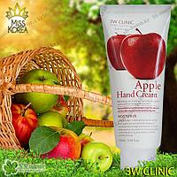 Apple Hand Cream [3W CLINIC] Увлажняет и защищает кожу рук 100 мл