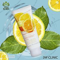 Lemon Hand Cream [3W CLINIC] Лимонный осветляющий крем для рук, 100мл