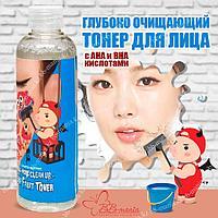 Hell - Pore Clean Up Aha Fruit Toner [Elizavecca] Глубоко очищающий тонер для лица с кислотами