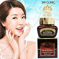 Premium Placenta Intensive Cream [3W CLINIC] Омолаживающий крем от морщин с плацентой 50 мл