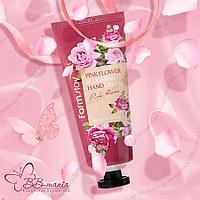 Pink Flower Blooming Rose Hand Cream [FarmStay] Серия невероятно весенних, невероятно цветочных кремов 100 мл