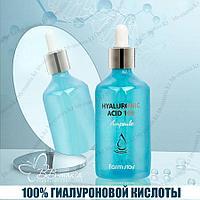 Hyaluronic Acid 100 Ampoule [FarmStay] улажняющая сыворотка 100 мл