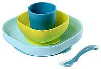 Набор посуды SILICONE MEAL SET Blue (Beaba, Франция), фото 1