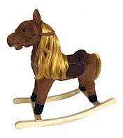 Качалка-лошадка Pituso длинная грива коричневый