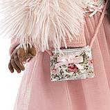 LLORENS: Кукла Мартина 40 см., мулатка в розовом пальто и шапочке 54031, фото 5