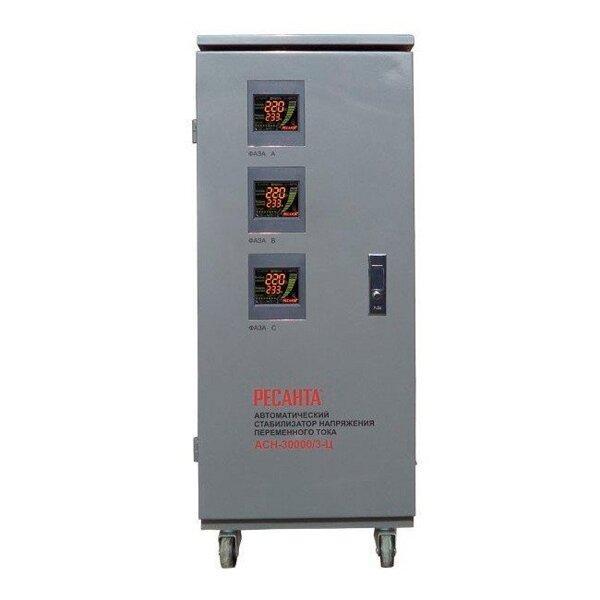 Стабилизатор напряжения электронный -РЕСАНТА - АСН-30000/3-Ц-30 кВт (380)