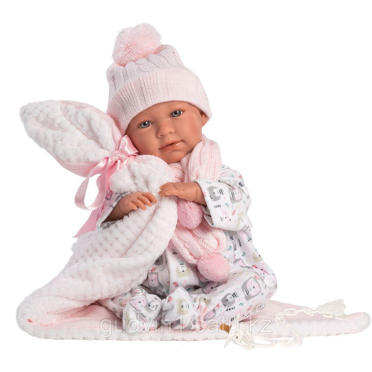 LLORENS: Пупс Малышка 42 см., в пижаме скучающая 74084