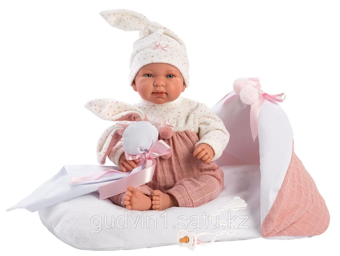 LLORENS: Пупс Малышка 44 см., с розовым матрасиком 84436