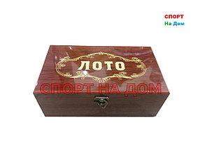 Семейное лото в деревянной шкатулке (цвет коричневый)