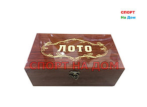 Семейное лото в деревянной шкатулке (цвет коричневый), фото 2