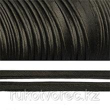 Кант атласный чёрный 1,2 см