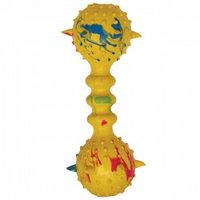 """Игрушка для собак из ц/литой резины """"Гантель шипованная с колокольчиком"""", 155мм"""