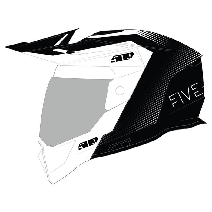 Шлем 509 Delta R4 Fidlock®, размер 2XL, белый, чёрный