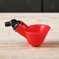 Поилка чашечная для домашней птицы, со штуцером под трубку (комплект из 10 шт.)