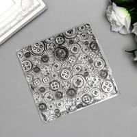 Штамп для творчества силикон 'Пуговицы' 10,5х10,5 см