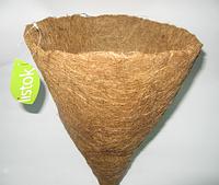 Кашпо вкладыш из коковиты ф30 см конус