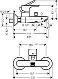 Talis E Смеситель для ванны, однорычажный, внешнего монтажа, фото 2